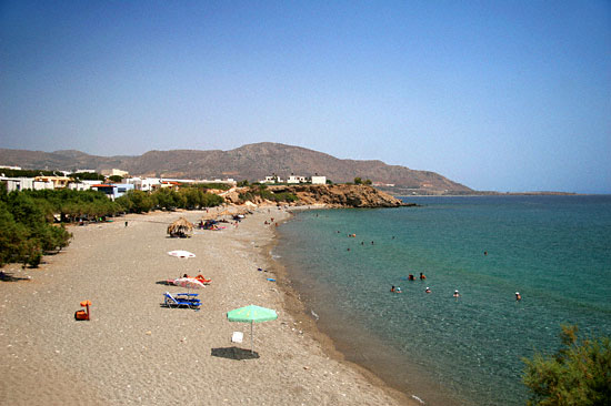 Makrygialos central beach